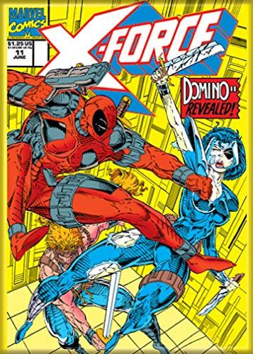 Ata-Boy Marvel Comics X-Force #11 Deadpool 6,35 cm x 9 cm ímã para refrigeradores e armários