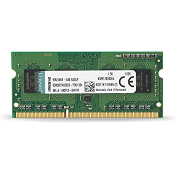 Kingston KVR13S9S8/4 - Memoria RAM de 4 GB (1333 MHz DDR3 Non-ECC CL9 SODIMM 204-pin, 1.5V)