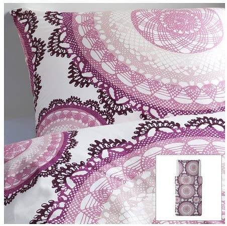 Ikea Parure De Lit Lyckoax 100 Coton File Peigne 207 Fils 140 X 200 Cm Et 80 X 80 Cm Amazon Fr Cuisine Maison