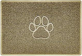 Nicoman PAW Embossed Shape Door Mat-(Use Indoor or Sheltered Outdoor), Spaghetti Doormat, Beige, Large (90x60cm)
