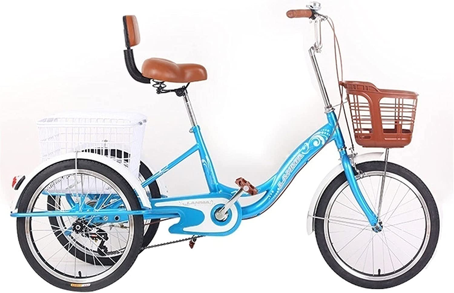 Stable Tricycle Adult 20inch half Elderly 3 Wheel Bicycle B Tricycles Max 80% OFF