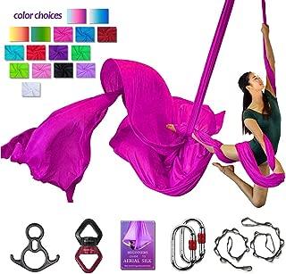 Aerial Silks Deluxe Equipment Set for Aerial Yoga, Aerial Yoga Hammock, Aerial Acrobatic,Circus Arts, Aerial Dance(L:10m W:2.8m
