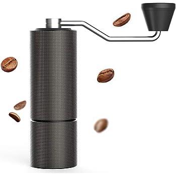 タイムモア TIMEMORE 栗子C2 手挽きコーヒーミル 手動式 コーヒーグラインダー ステンレス臼 粗さ調整可能 速い便で 4色選択可 清掃しやすい coffee grinder 家庭用 省力性 ダイヤモンド -納期は3-5日間 (ブラック)