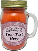 Our Own Candle Company, Create Your Custom Message, Fresh Peach Scented 13 Ounce Mason Jar Candle