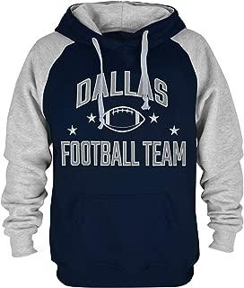 Mens Dallas Football Embroidery Soft Cotton Sweatshirt Hoodie