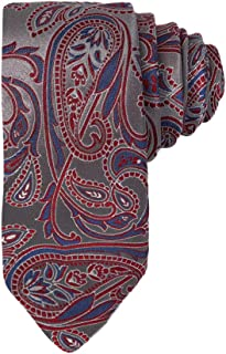 Y&G Men's Fashion Business Paisley Jacquard Silk Skinny Tie World Wide Gift