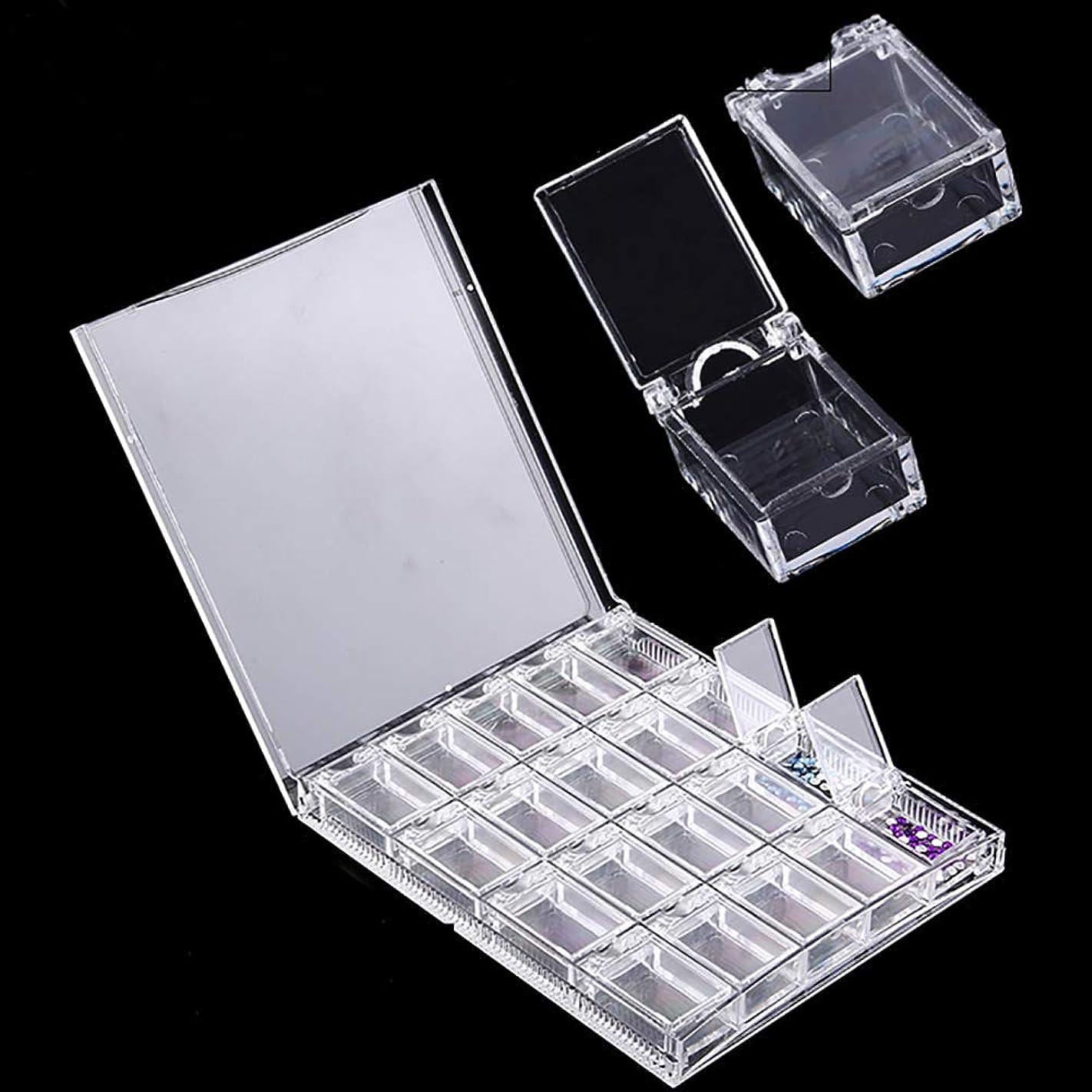 狂気ダメージカポックHOYOFO パーツボックス ネイル用品 小物収納ケース クリア 多機能 アクセサリー収納 おしゃれ 取り外し可能 フタ付き 20個 透明