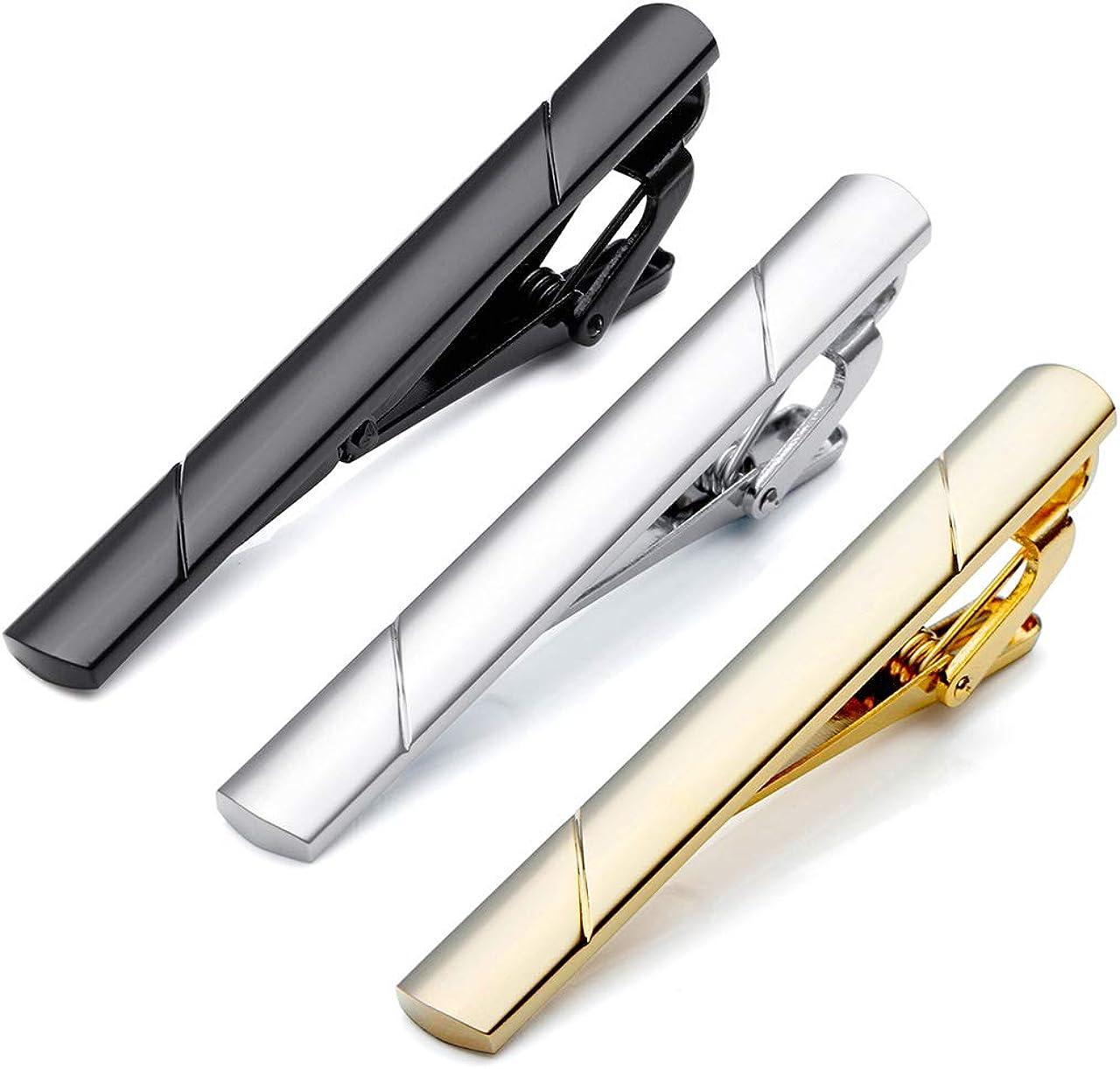 PiercingJ 3pcs Arlington Mall Set Cheap Stainless Steel GQ Exquisite Classic Bar Tie