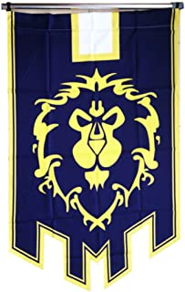 Magabee World of Warcraft Horde Alliance Badge Banner Flag Orc Emblem Poster (Blue)