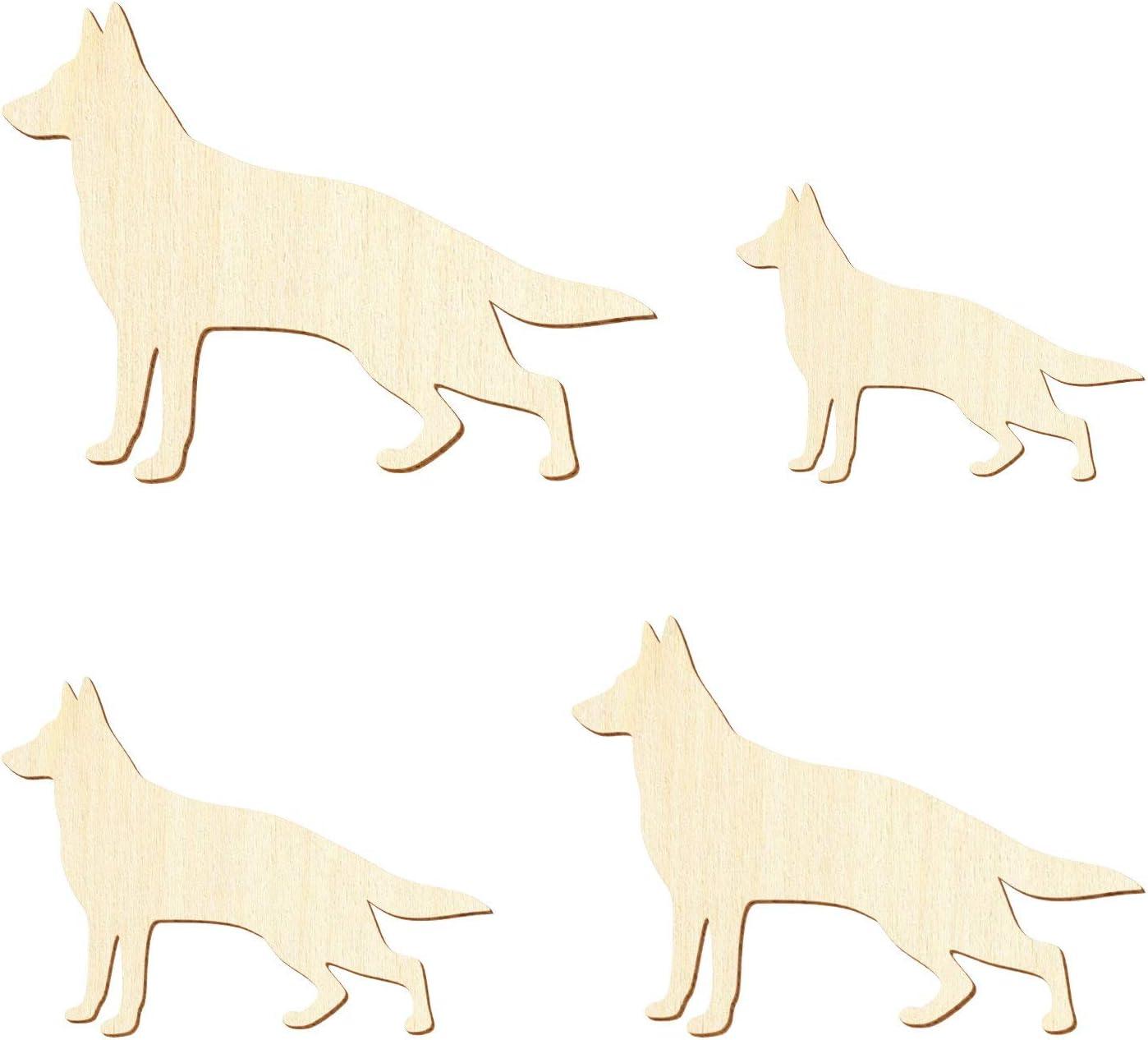 Deko Basteln 3-50cm Gr/ö/ße:3cm Deutscher Holz Sch/äferhund Pack mit:1 St/ück