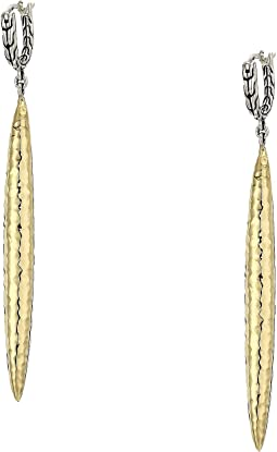 Classic Chain Hammered Drop Earrings