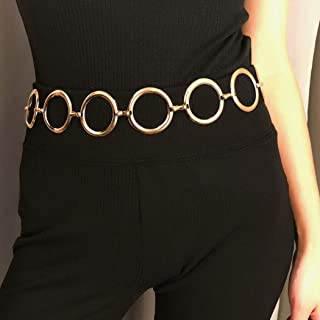 Nicute Boho Ring Waist Chain Circle Dance Belly Chains Fashion Body Jewelry for Women and Girls Gold