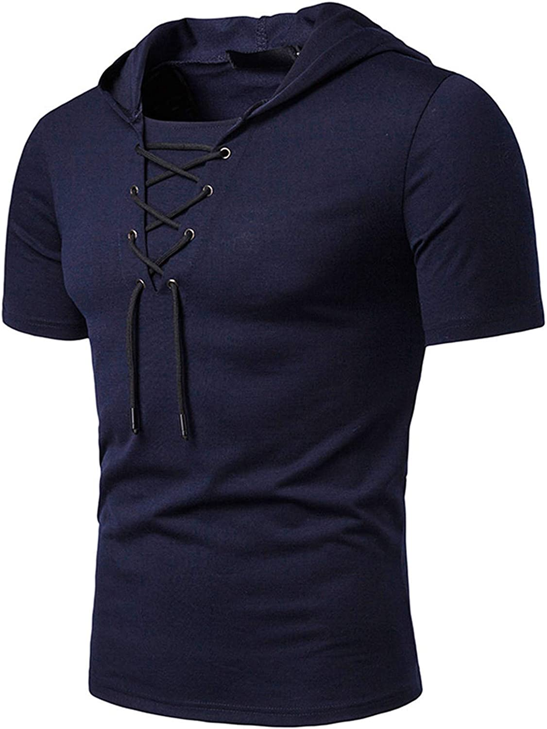 MAYW Mens Casual Soft Skin-FriendlyRegular-Fit Wrinkle-Resistant Pullover Top