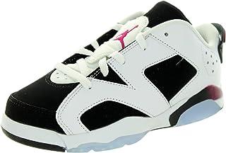 Jordan Nike Kid's 6 Retro Low Gp White/Sport Fuchsia/Black Basketball Shoe