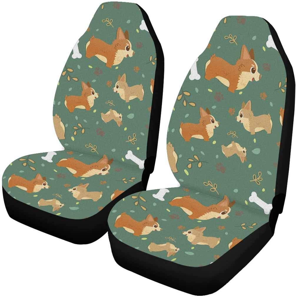 InterestPrint Car Gifts Seat Covers Protectors Pieces 2 Max 46% OFF Universal Fit