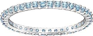 Swarovski Vittore Rhodium Plated Crystal Stacking Ring - Size 18.15 mm