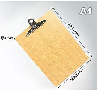 SijiHua Clipboard Férula de cartón A4 ecológica y duradera (2 unidades), color amarillo A4