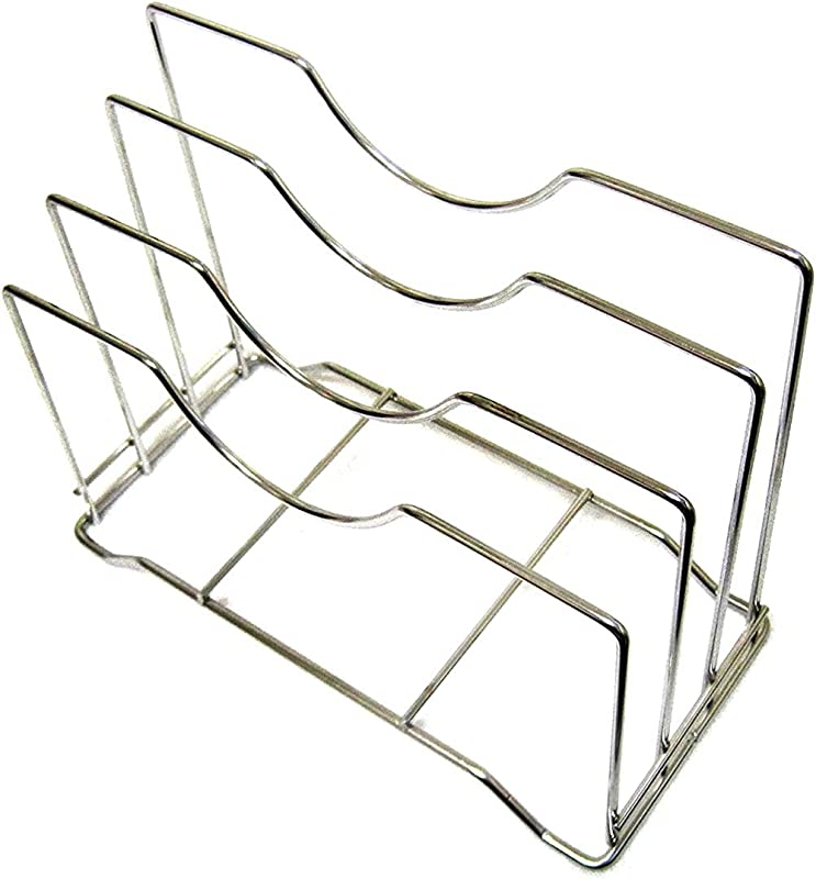 Stainless Steel Wire Chopping Board Holder Cutting Board Rack Kitchen Organizer