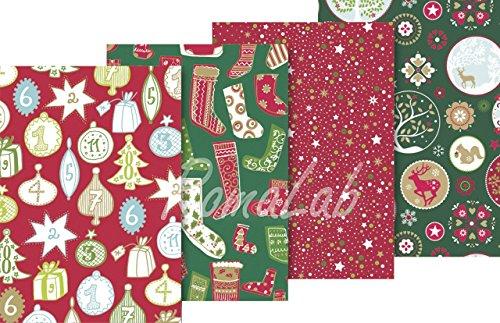 4 rotoli di carta regalo stampata 70 x 200 cm mix a tema natalizio NATALE PAPER