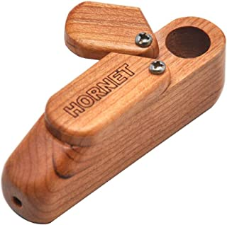 MIRUIKE Wooden Smoking Pipe Portable Jamaican Tobacco Pipe with Storage Room Handmade Foldable for Art Collection