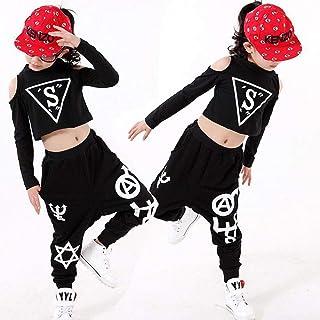 2bfba2847a22c Moyuqi™ Ensemble de vêtements Printemps pour Enfants Costumes Pantalons et  t-Shirts de Danse