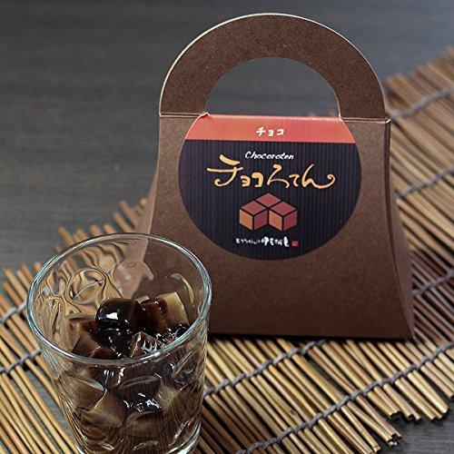 伊豆河童チョコろてんダブルチョコ味(カカオ入り角心太95gチョコソース12.5g×2珈琲フレッシュ5g)1個ホワイトデー向け