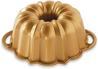 Nordic Ware 51277 Aniversario Bundt 6 tazas, Aluminio, dorado