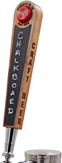Bottle Cap Beer Tap Handle with Chalkboard and Magnetic Cap Holder - Simple Edition