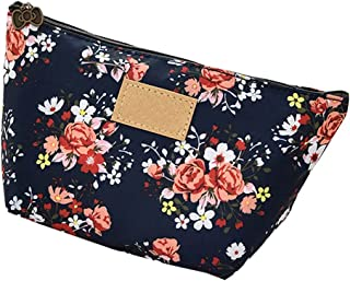 Makeup Bag,Travel Bag,Cosmetic Organizer Bathroom Bag Small Pouch,Flower Style