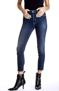 27b05ac43a Meltin'Pot - Jeans MAREG pour Femme, Taille Skinny, Taille Haute