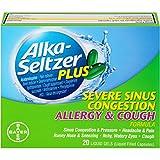 Alka-Seltzer Plus Severe Sinus Congestion Allergy and Cough Liquid Gels, 20 Count