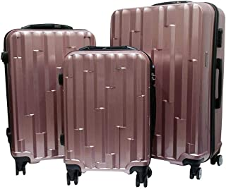 Discovery Smart Luggage With Built-In Scale & Tracker Chip, Set Of 3pcs, 4 Wheels