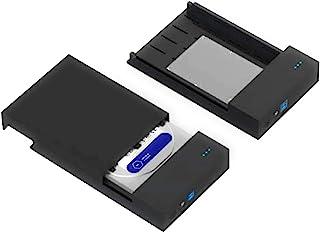 Live Tech 3.0 USB Casing 3.5/2.5 Inch SATA to USB External Hard Drive Enclosure Case for Laptop/Desktop/SSD HD (Hard Disk ...