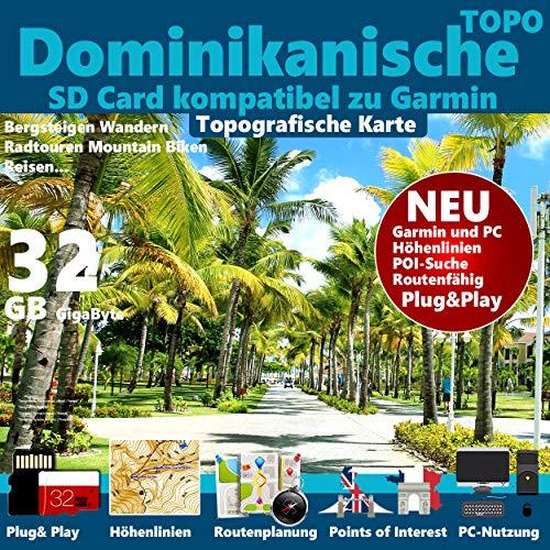 ★Dominikanische Republik Dominican Republic Karte Outdoor Topo GPS Karte GB microSD Card für Garmin Navi, PC & MAC für Garmin Navigationsgeräte Navigationssoftware ★ passend zu GARMIN
