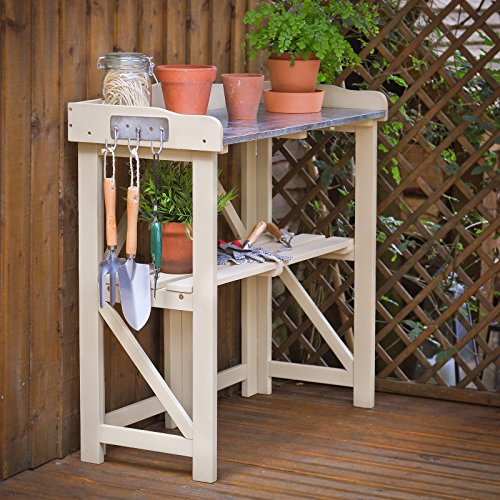 Plant Theatre Folding Hardwood Potting Table