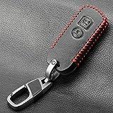 LJQXBF Coperchio chiave auto Portachiavi in pelle protettiva per Honda X ADV SH 300 150 125 Forza 300 125 PCX150 2018 Moto Scooter 2/3 pulsante Smart Key, 2 pulsanti