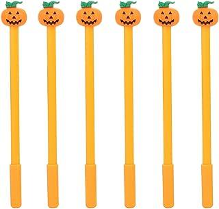 Maydahui 30PCS Funny Pumpkin Shape Rollerball Pen Black Gel Ink Pens for Office School Hallowmas Kids