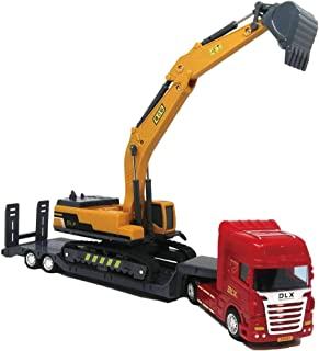 morytrade トラック トレーラー おもちゃ 玩具 プレゼント 男の子 子供 (ショベルカー)
