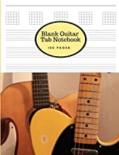 Blank Guitar Tab Notebook: Large Sheet Music Staff Paper for Writing Guitar Melodies, Riffs, Chords and Songs - Matte Cover with a Telecaster