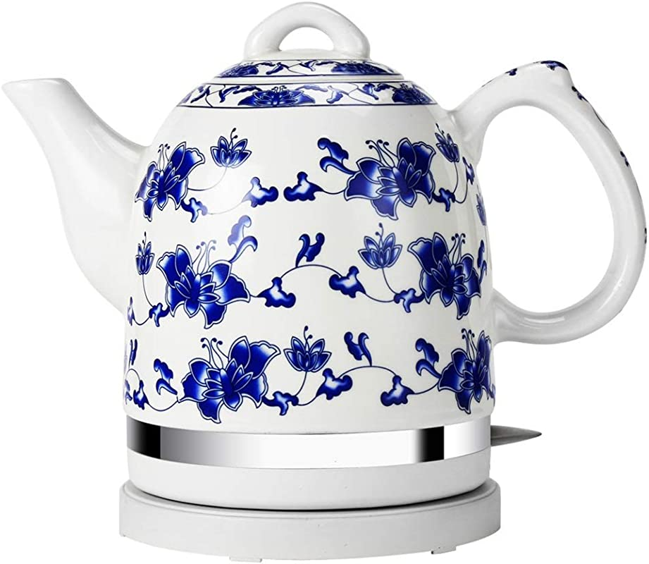 YEXIN Orient Electric Ceramic Kettle 1 5l Cordless Kettle Traditional White Mosaic Pattern Hygiene 1350 W Color White