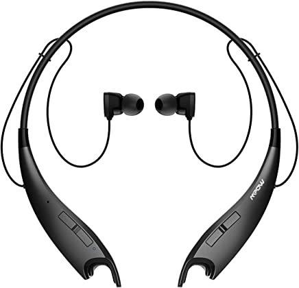 Mpow Jaws V4.1 Bluetooth Headphones Wireless Neckband Headset Stereo w/CVC 6.0 Noise Cancelling Mic