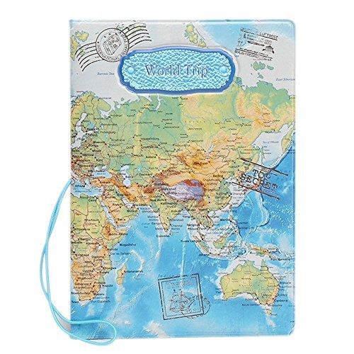 BAIGIO Sac de protection de passeport et cartes d'identité Sac de voyage Sac de protection à la mode style populaire, Bleu