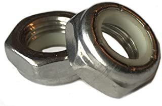1//2-13 Superior Grade//Type 316 Stainless Steel Nylon Insert Lock Nuts pack of 10pcs Marine Bolt Supply