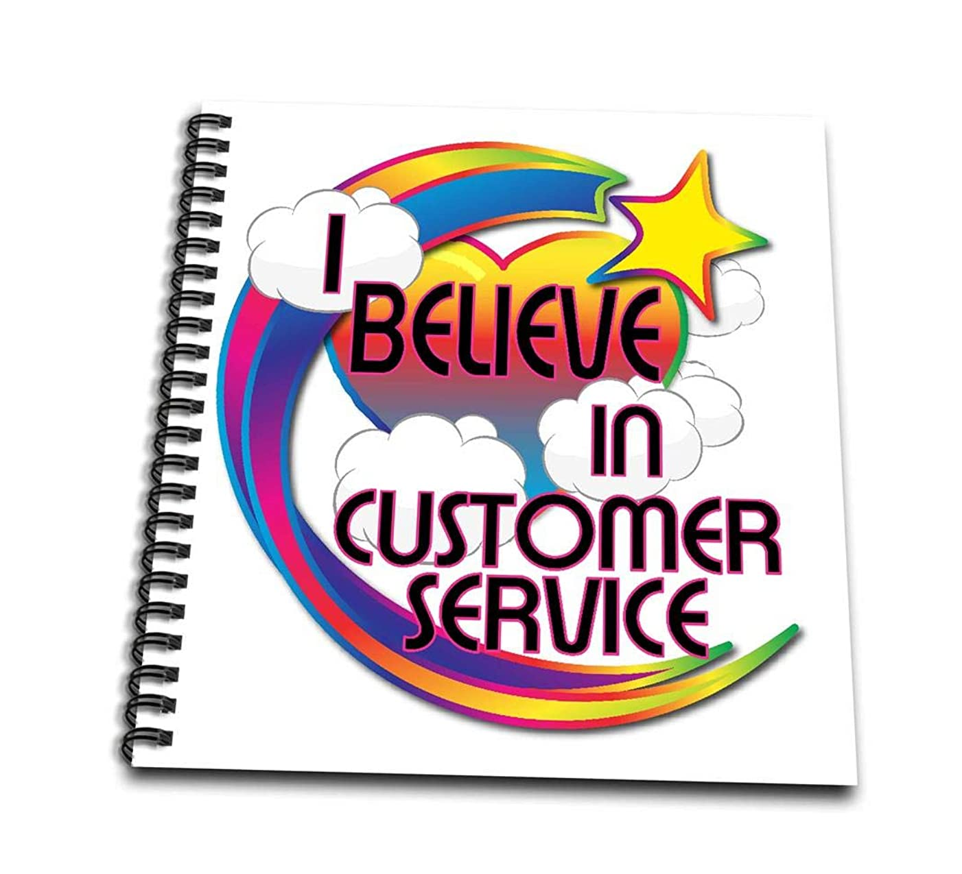 3dRose db_166406_1 I Believe in Customer Service Cute Believer Design-Drawing Book, 8 by 8-Inch