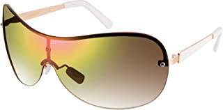 Southpole Women's 444sp-Rgdwh Shield Sunglasses, Rose Gold White, 61 mm