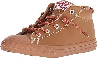 Kids' Chuck Taylor All Star Leather Street Mid Sneaker