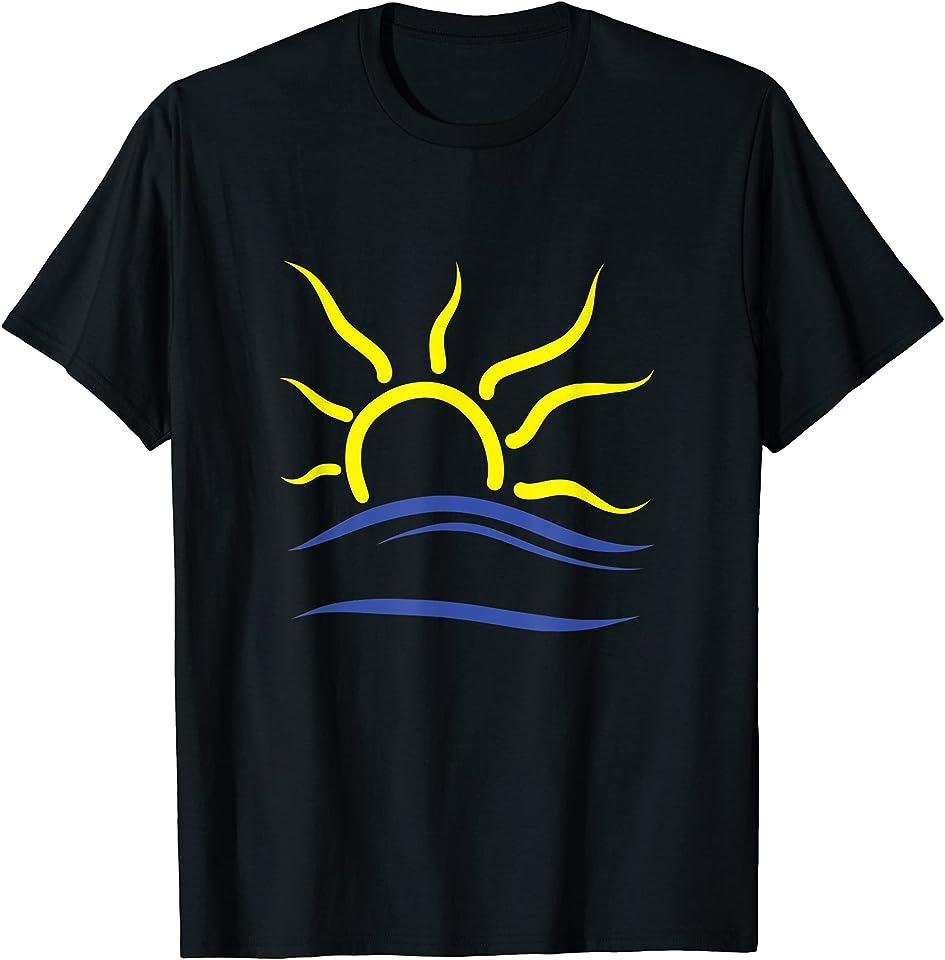 Naturist-Symbol und FKK Anhänger Design T-Shirt