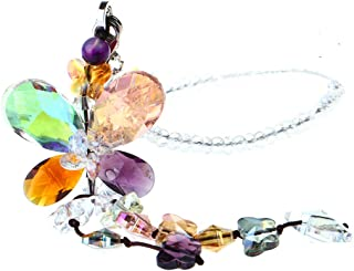 H&D Car Charms Rear View Mirror Accessories,Crystals Ornaments Chandelier Crystals Hanging Prisms Fengshui Suncatcher Rainbow Pendant Maker Car Charm (Colorized)