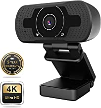HD Webcam, Hyrayzan Auto Focus 8MP /1080P Webcam with Microphone, Streaming USB Webcam,Computer Laptop PC Web Camera for Video Calling Recording Conferencing