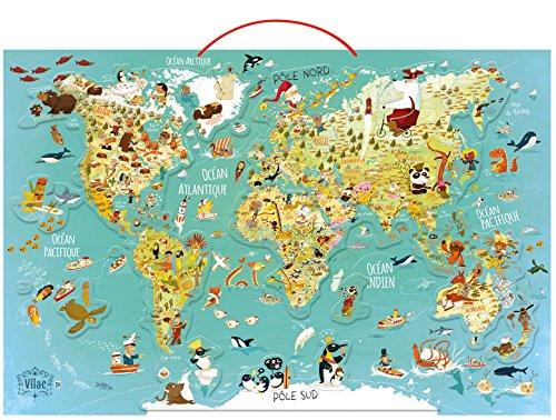Vilac - Puzzle Mapa del Mundo. Fantástico magnético (2720)